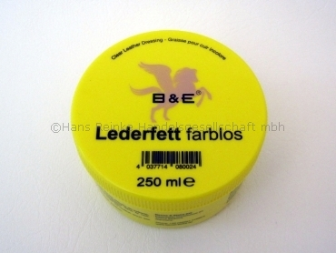B&E Lederfett farblos 250ml